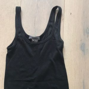 Black Vince ribbed tank top size XS